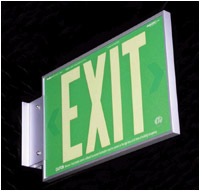 Photoluminescent Exit Signs From Addlight